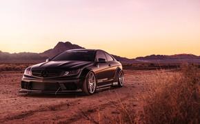 Picture background, black, Mercedes, car