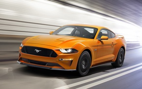 Wallpaper Mustang, Ford, Speed, Fastback, 2017