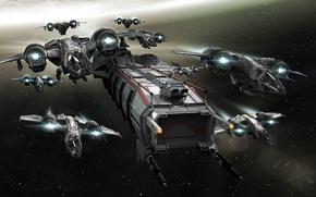 Picture Star Citizen, Space ship, Drake Buccaneer, Drake Caterpillar
