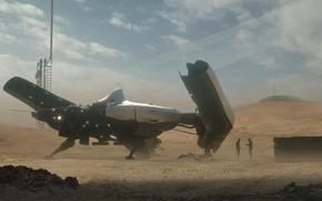 Wallpaper Star Citizen, Space ship, Banu Defender