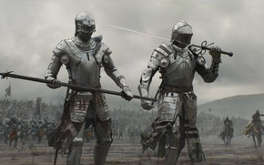Wallpaper warrior, man, honor, army, blade, combat, sword, horse, ken, knight, weapon, spear, armor, war, fight