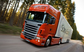 Picture truck, in motion, Truck, Scania, Scania, the truck, Topline, R480