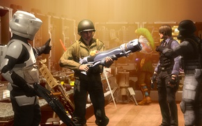 Picture game, weapons, soldiers, star wars, resident evil, hunk, Leon S. Kennedy, link, legend of zelda