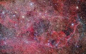 Picture space, stars, Vela Supernova Remnant, Diffuse nebula