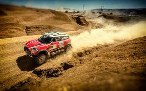 Picture Sand, Red, Mini, Dust, Sport, Machine, Speed, Race, Car, Rally, Dakar, Dakar, SUV, Rally, X-Raid …