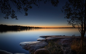 Picture lake, the evening, Finland, Finland, Eagle, Kymenlaakso