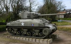 Picture monument, M4A1, medium tank, Sherman