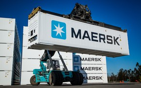 Picture Port, Terminal, Container, Maersk, Container, Loader, Reach stacker, Maersk