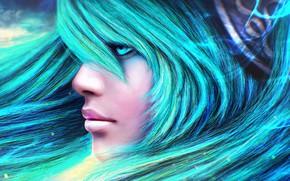 Wallpaper League of Legends, Maven of the Strings, sona, girl, lol, hair, face, beauty