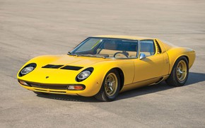 Picture Color, Auto, Yellow, Lamborghini, Machine, Bright, 1971, Lights, Car, Supercar, Lamborghini Miura, P400, SVJ, Lamborghini …