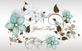Picture flowers, pattern, vector, ornament