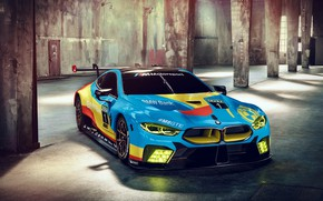 Picture racing car, 2018, GTE, BMW M8