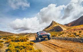 Picture Sand, 2008, Rocks, Mountain, Sport, Speed, Race, Peugeot, Lights, Red Bull, Rally, Dakar, Dakar, Rally, …