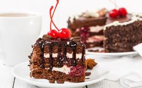 Picture chocolate, cake, cream, dessert