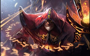 Picture fire, Dota 2, wizard