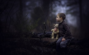Picture forest, toy, boy