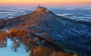 Picture castle, Hohenzollern, Hohenzollern in winter, Winter mood