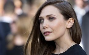 Picture girl, makeup, actress, decoration, hair, actress, Elizabeth Olsen, Elizabeth Olsen