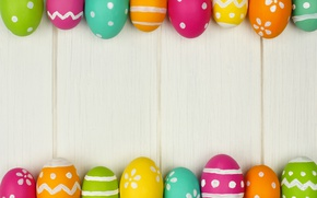 Wallpaper spring, colorful, wood, Easter, eggs, Easter, happy, spring, holiday, eggs