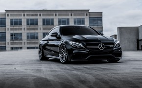 Picture Mercedes, Black, Coupe, Bi-Turbo, С217, S63AMG