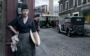 Wallpaper the city, woman, Renault, Paris, Stories, retro