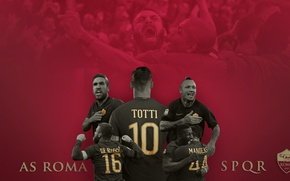 Picture wallpaper, sport, football, AS Roma, Serie A, players, Roma
