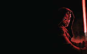 Picture Red, Black, Star Wars, Star wars, Darth Maul, Red, Hood, Lightsaber, Black, Villain, Sith, Sith, …