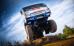 Wallpaper The sky, Master, Truck, Speed, Contest, Master, SilkWay, Rally, KAMAZ, Rally, Race, RedBull, Best, Bottom, ...