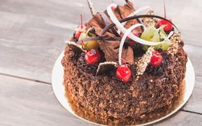 Picture chocolate, cake, decoration, cream