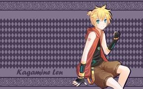 Picture background, anime, Vocaloid, Vocaloid, Len