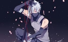 Picture art, Naruto, Hatake Kakashi, the ANBU, Hatake