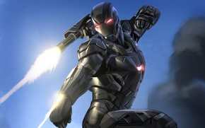 Picture cinema, movie, Iron man, film, suit, machine gun, War Machine, minigun