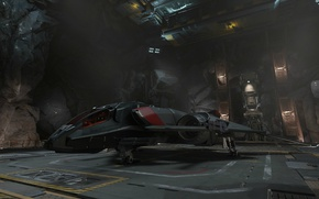 Wallpaper starship, Star Citizen, Sabre