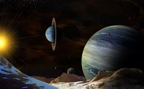 Wallpaper planet, space