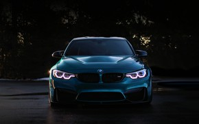 Picture BMW, Blue, Predator, F80, Sight, LED