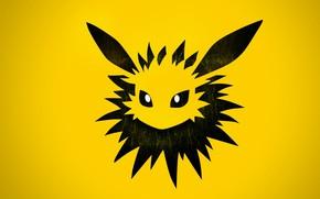 Picture eyes, needle, element, ears, eyes, Pokemon, electric, electric, pokemon, Jolteon, Jolteon
