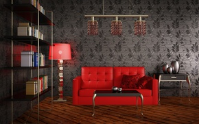 Wallpaper Modernity, living room, design