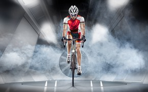 Picture athlete, cyclist, equipment