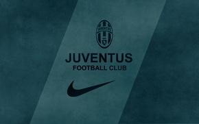 Picture nike, juventus, football club, by fernan, dark green background