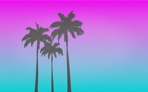 Wallpaper Stars, Palm trees, Background, Hotline Miami, Synthpop, Darkwave, Synth, Retrowave, Synthwave, Synth pop
