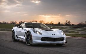 Picture car, Corvette, Chevrolet, logo, sky, Chevrolet Corvette, Chevrolet Corvette Carbon 65 Edition Model, Chevrolet Corvette …