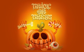 Picture holiday, the inscription, pumpkin, Halloween