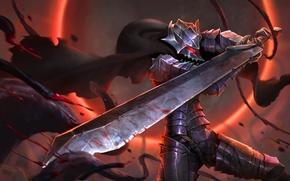 Picture sword, blood, game, armor, anime, power, man, fight, ken, blade, Berserk, evil, asian, warrior, manga, …