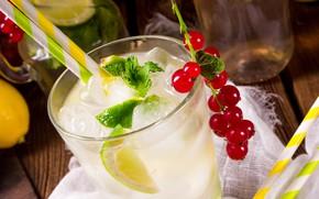 Picture berries, currants, Lemonade