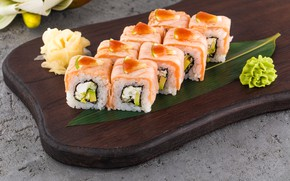 Picture Wasabi, Rolls, Ginger, Sheet