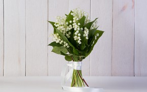 Picture flowers, lilies of the valley, a bunch