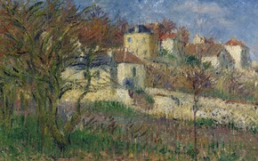 Picture landscape, home, picture, Gustave Loiseau, Gustave Loiseau, The Hills Of Hermitage. PONTOISE