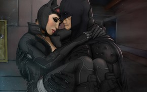 Picture two, Batman, wound, cat woman