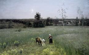 Picture landscape, picture, Twilight, Nikolay Dubovskoy
