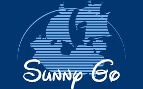 Picture logo, Disney, game, One Piece, blue, anime, ship, asian, manga, japanese, oriental, asiatic, Luffy, Monkey …